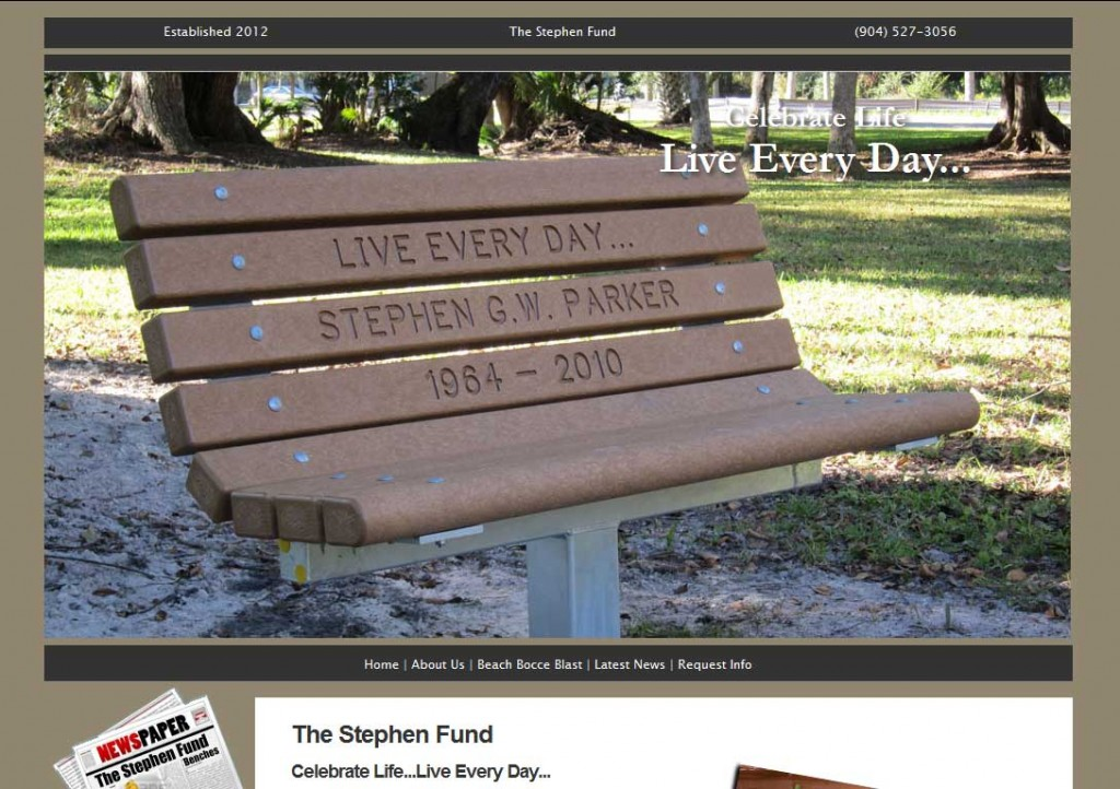 PTC-Clients-Screenshots-The Stephen Fund, supporting cancer research and beautifying the world around us