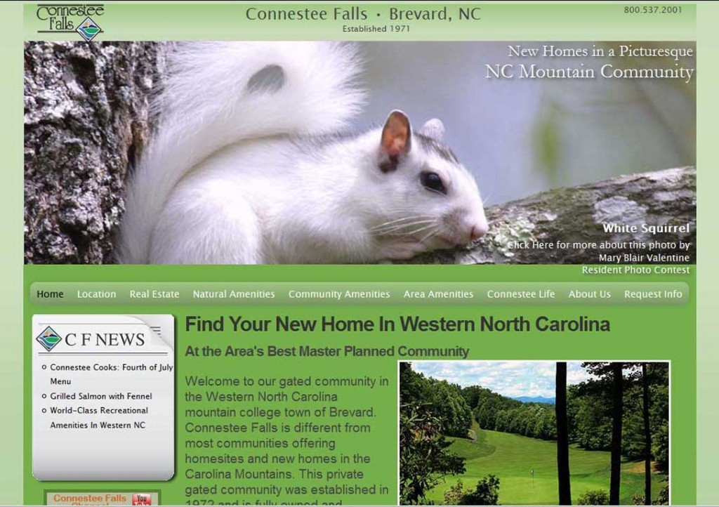 PTC-Clients-Screenshots-Connestee Falls, Brevard, North Carolina master planned community