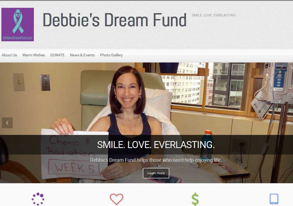 PTC-Clients-Screenshots-Debbie's Dream Fund supporting those living with cancer