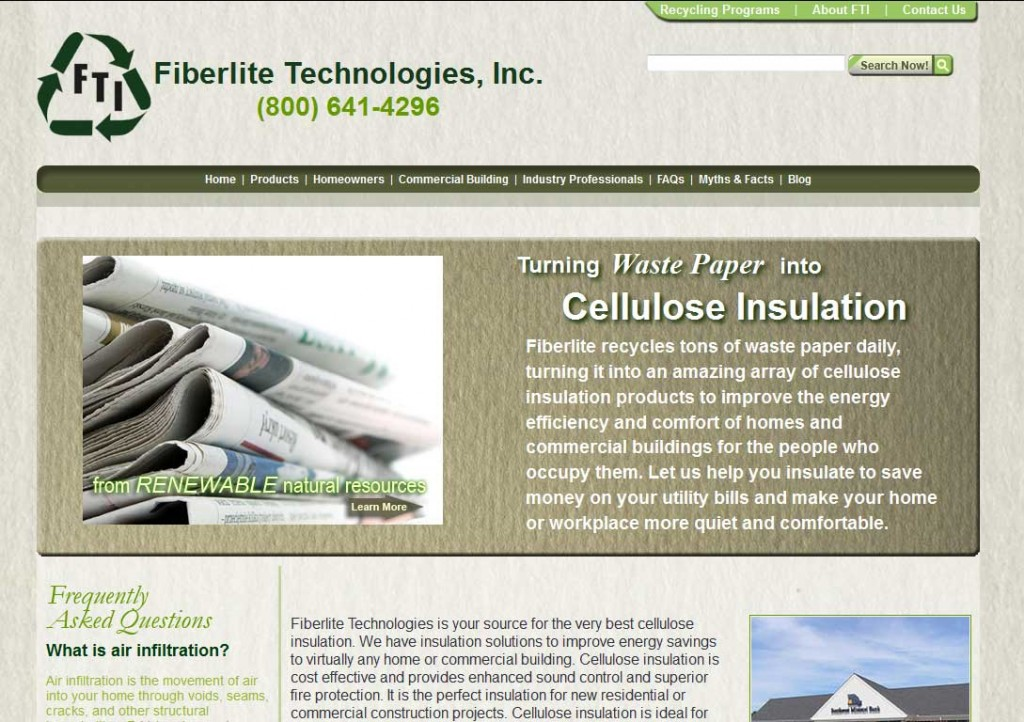 PTC-Clients-Screenshots-Fiberlite Tech Cellulose Insulation Manufacturer
