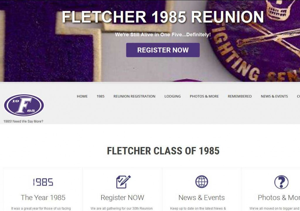 PTC-Clients-Screenshots-Fletcher 1985 High School Reunion Committee