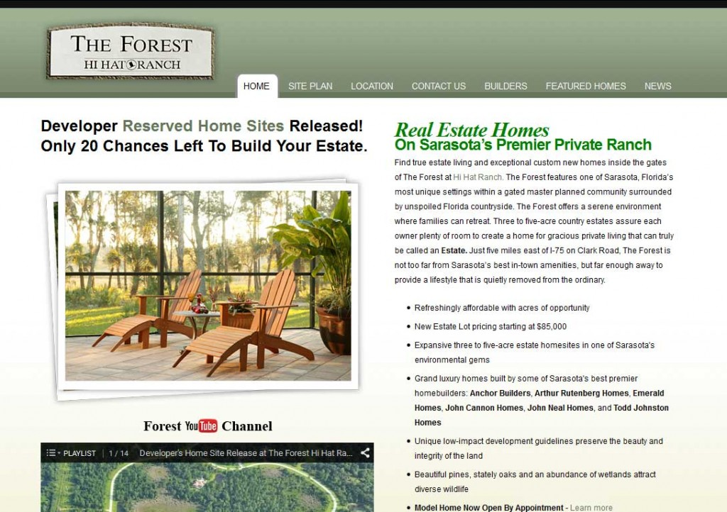 PTC-Clients-Screenshots-The Forest at Hi Hat Ranch, Sarasota, Florida master planned community