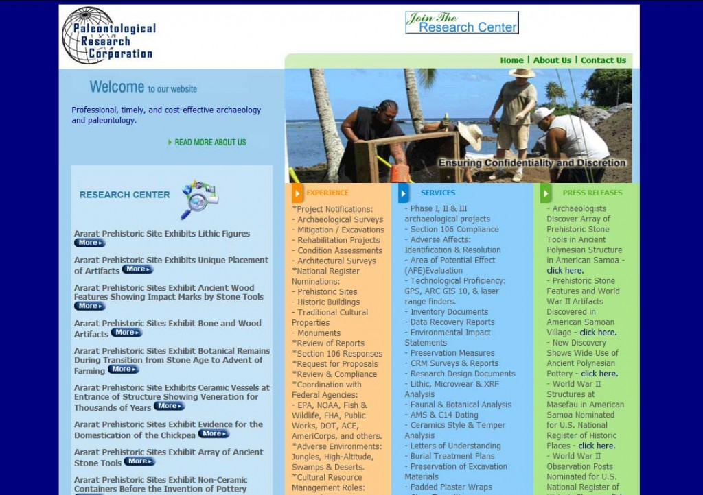 PTC-Clients-Screenshots-Paleontological Research Corporation