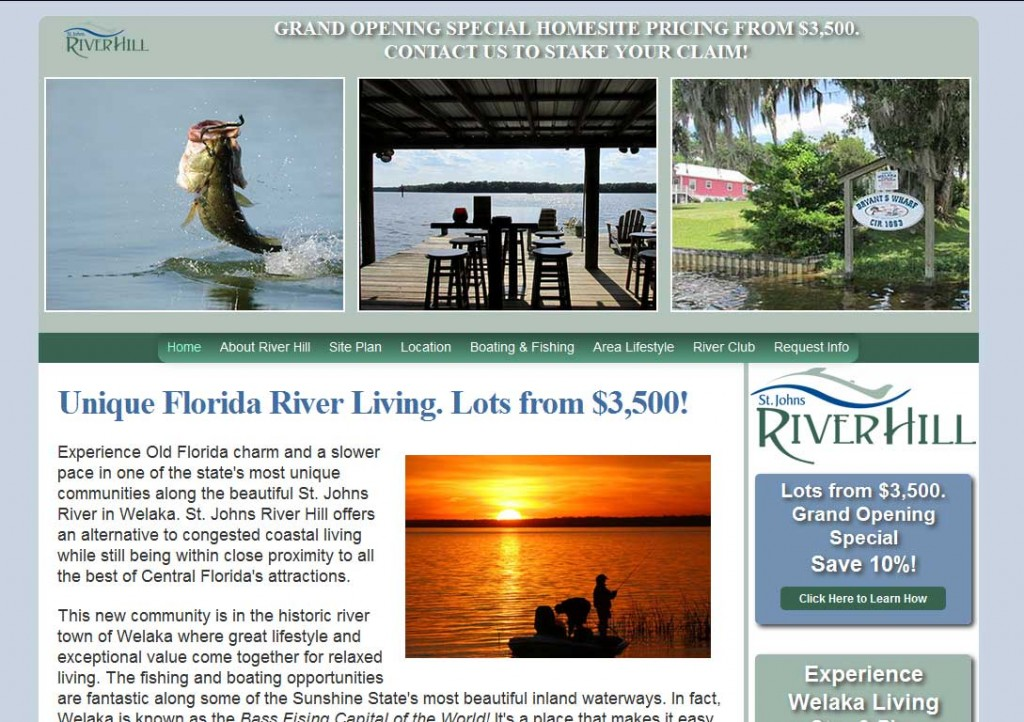 PTC-Clients-Screenshots-St. Johns River Hill, Welaka, Florida master planned community